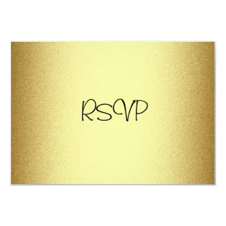 RSVP Response Card All Events Elegant Gold