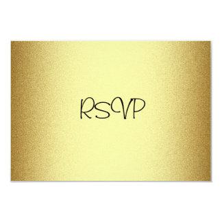"RSVP Response Card All Events Elegant Gold 3.5"" X 5"" Invitation Card"
