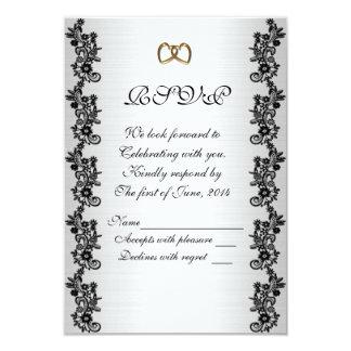 RSVP response card black and white