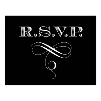 Rsvp Response Card Custom Color Post Card
