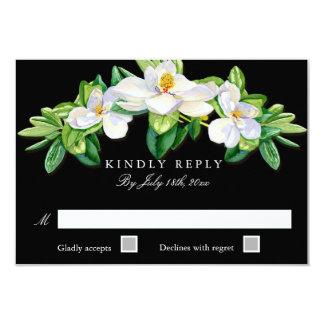 RSVP Response Card MODERN Typography Magnolia