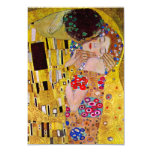 "RSVP Response Card; The Kiss by Gustav Klimt 3.5"" X 5"" Invitation Card"