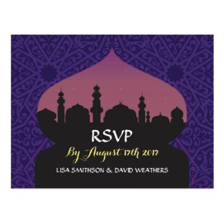 RSVP Response Wedding Postcard Arabian Nights