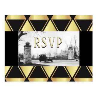 RSVP Roaring Twenties Art Deco Postcard