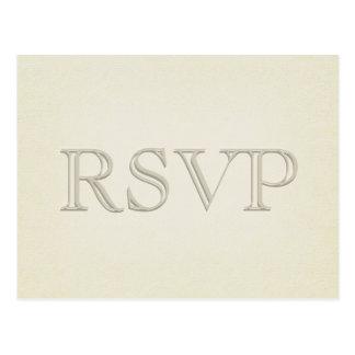 RSVP - Simple Modern Tan Postcard
