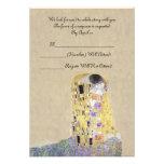 "RSVP ""The Kiss"" Golden Wedding Anniversary Klimt Custom Invites"