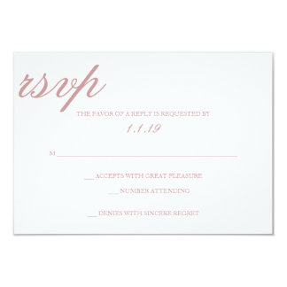 """RSVP   Together 3.5"""" X 5"""" Invitation Card"""