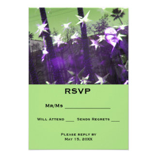 "RSVP  Trees and Stars Abstract 3.5"" X 5"" Invitation Card"