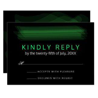 RSVP Trendy Minimalist Elegant Spring Green Card