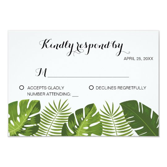 RSVP Tropical Wedding card template