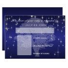 RSVP  Under the Stars in Metallic Dark Blue - RSVP Card