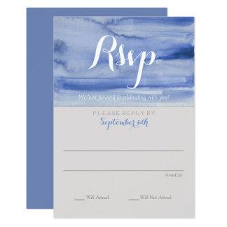 Rsvp Watercolor Blue Enclosure Card