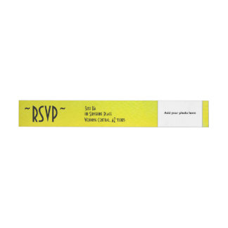 RSVP Watercolor Personal Photo Return Address Wrap Around Label