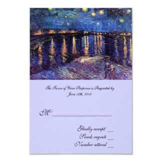 RSVP, wedding acceptance card, Starry Night ... Card