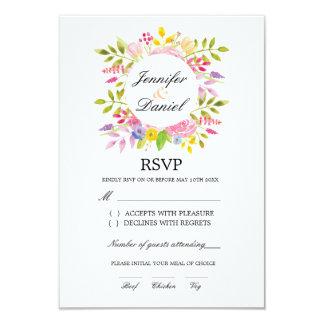 RSVP Wedding Card Elegant Insert Floral Pack