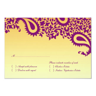 RSVP Wedding Card with Food Option