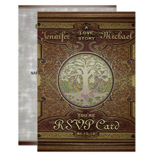 RSVP - Wedding Love Story Romantic Card