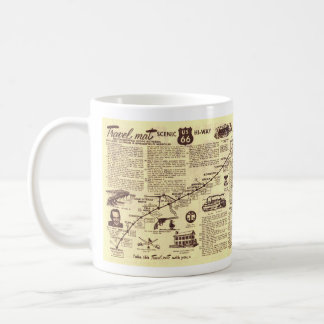 Rt 66 Chicago to Springfield Travelmat Coffee Mug