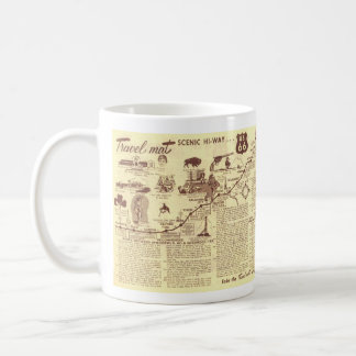 Rt 66 Springfield to Shamrock Travelmat Coffee Mug