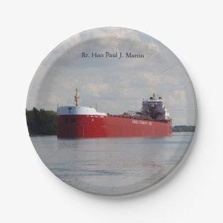 Rt. Hon Paul J. Martin paper plate