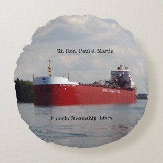 Rt. Hon Paul J. Martin round pillow