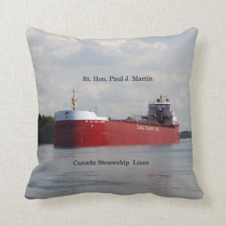 Rt. Hon Paul J. Martin square pillow