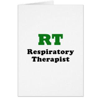 RT Respiratory Therapist Card