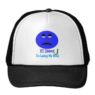 RT Student IM LOSING MY MIND BIG BLUE SMILEY Trucker Hats