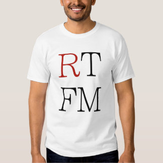 RTFM read the f*cking manual cool geeks gifts tee