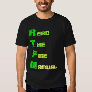 RTFM - Read The Fine Manual Tshirt