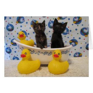 Rub A Dub Dub Kitties and Ducks in a Tub Card