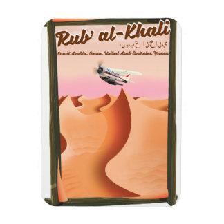 Rub' al Khali Saudi Arabia vacation poster. Magnet
