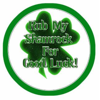 Rub My Shamrock For Good Luck! Photo Cutout