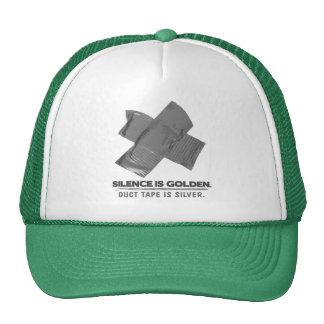 ruban adhésif - la parole est d'argent le silence casquettes de camionneur