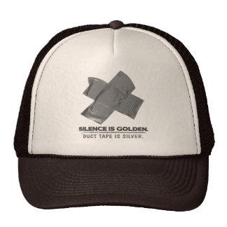 ruban adhésif - la parole est d'argent le silence  casquette de camionneur