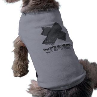 ruban adhésif - la parole est d'argent le silence  tee-shirt pour animal domestique