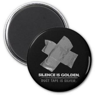ruban adhésif - la parole est d'argent le silence magnet rond 8 cm