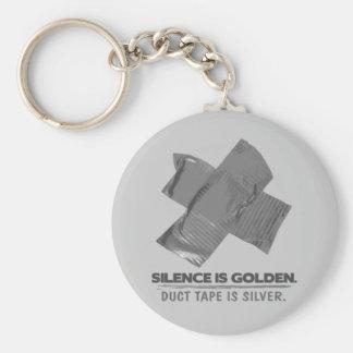 ruban adhésif - la parole est d'argent le silence  porte-clef