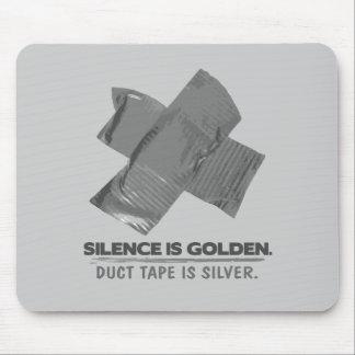 ruban adhésif - la parole est d'argent le silence  tapis de souris