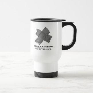 ruban adhésif - la parole est d'argent le silence  mug à café