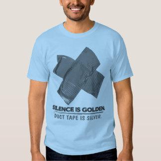 ruban adhésif - la parole est d'argent le silence tee shirt
