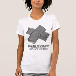 ruban adhésif - la parole est d'argent le silence  t-shirt