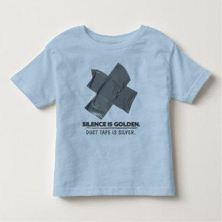ruban adhésif - la parole est d'argent le silence tee shirts