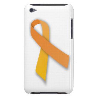 Ruban animal orange de conscience de gardien étui iPod touch