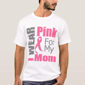 Ruban de cancer du sein je porte la maman rose t-shirt