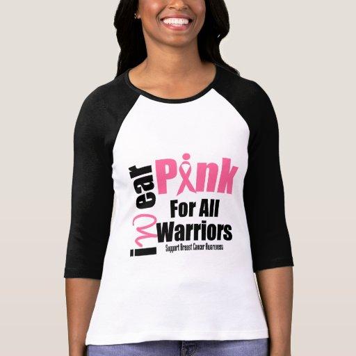 Ruban de rose de soutien de cancer du sein tous le t-shirts