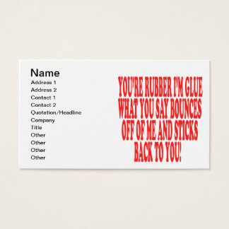 Rubber And Glue Business Card