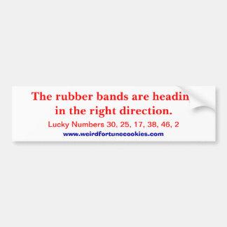 Rubber Bands (bumper sticker) Bumper Sticker