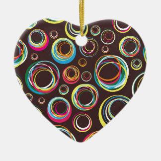 rubber bands ceramic heart ornament