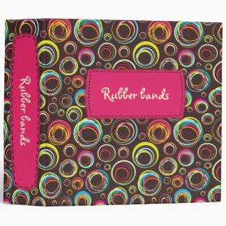 rubber bands - pink label - binder